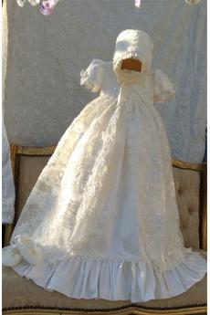 Vysoká zahrnuty Dlouhý Drobounký Krátké rukávy Přirozeného pasu Křest šaty
