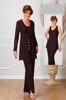 Volánky Formální Dlouhý rukáv Vysoká zahrnuty Matka šaty obleky