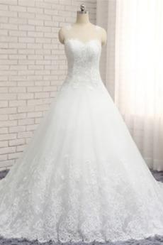 Klasický A-Čára Střední záda Střední Zahrada Soud vlak Svatební šaty