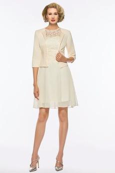 Oslava Elegantní Dvoudílné Krajkou Overlay Matka nevěsty šaty