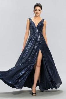 Flitry Elegantní Rouška Přirozeného pasu Představení Večerní šaty