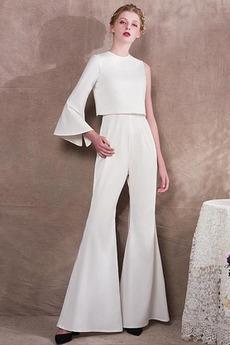 Střední Elegantní Drahokam Zip nahoru Kotníky S kalhoty Večerní šaty