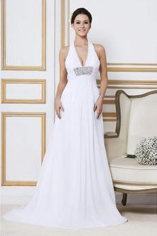 Říše Dlouhý Sexy Říše pasu Plus Velikost Zahrada Svatební šaty