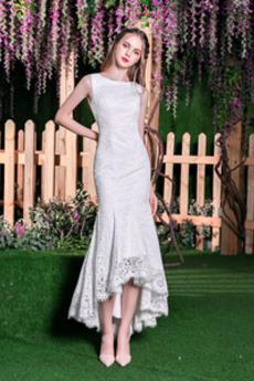 Jaro Trojúhelník Zip Pláž Krajka Krajka Elegantní Svatební šaty