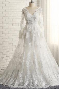 Zašněrovat boty Iluze Nášivky Elegantní Krajka Svatební šaty