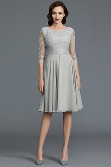 Krajka Jednoduchý Bateau Nášivky Iluze Přírodní pas Matka nevěsty šaty
