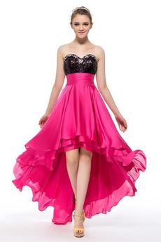 Šifón Přírodní pas Asymetrické Elegantní Flitry Koktejlové šaty