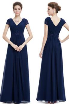 Krátký rukáv A-Čára Délka podlahy T-shirt rukáv Večerní šaty
