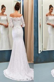 Mořská panna Přírodní pas Elegantní Vysoká zahrnuty Svatební šaty