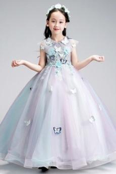 A-Čára Formální Kotníky Podzim Přírodní pas Květinové dívky šaty