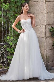 Tyl Elegantní Přírodní pas drahokamy živůtek Kostel Svatební šaty
