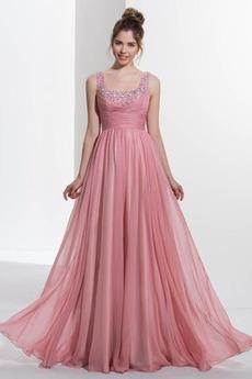 Střední Bez rukávů Podzim Zip nahoru Přikrýt Šifón Promové šaty