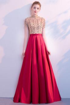 Vysoká krk Krystal Přesýpací hodiny Délka podlahy Promové šaty