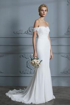 Mořská panna Rosný rameno S hlubokým výstřihem Svatební šaty