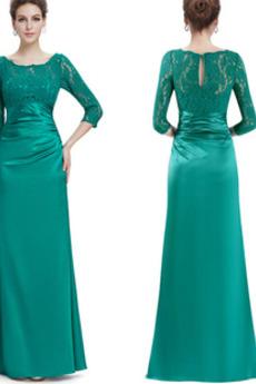 Přirozeného pasu Představení Elegantní Zip nahoru Večerní šaty