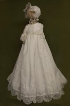 Tlačítka Krajka Polovina rukáv Dlouhý Formální Šperk Křest šaty