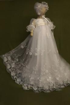 Tyl Princezna Klenot Lištování Dlouhý Čepice Dovolená Křest šaty