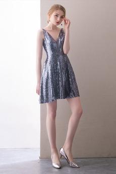 V-krk Rouška Přírodní pas Elegantní Míč Střední Koktejlové šaty