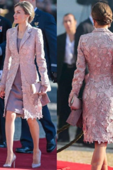 Dlouhý rukáv Oblek Přírodní pas Střední Dvoudílné Matka nevěsty šaty