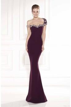 Mořská panna Zima čiré zadní Délka patra Hedvábí jako satén Večerní šaty