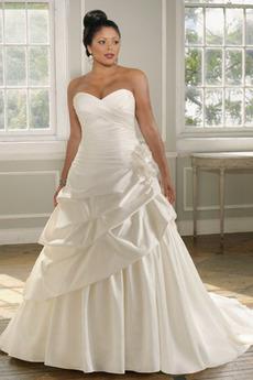 Skládaný živůtek karnýr Střední záda Světle šedá Svatební šaty