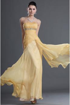 Bez ramínek Šampaňské Elegantní Přesýpací hodiny Večerní šaty