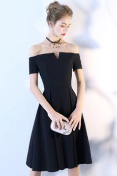 T-shirt rukáv Rosný rameno A-Čára Elegantní hostina Koktejlové šaty