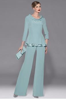 Míč Oblek Stupňová Jednoduchý Přirozeného pasu Matka šaty obleky