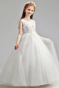 Přírodní pas Svatba Zip nahoru S diakritikou růžice Květ dívka šaty