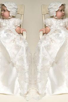 Vysoká zahrnuty Víčko Princezna Říše pasu Satén Šaty na křtiny