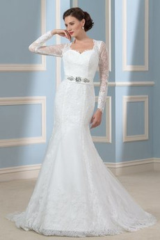 0b5bb77e83d Jaro Satén Přírodní pas Lištování Dlouhý Iluze Svatební šaty