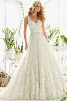 Formální Korálkový pás Střední záda Dlouhý Přírodní pas Svatební šaty