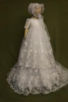 Víčko Krajkou Overlay Střední Vysoká zahrnuty Dlouhý Křest šaty