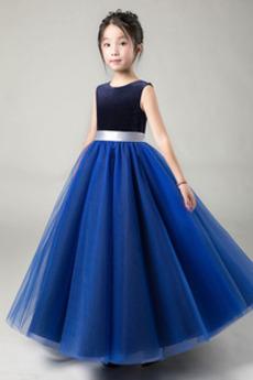 Drahokam Sametová Luk A-Čára Představení Květinové dívky šaty