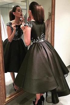 Přírodní pas Zip nahoru Přikrýt Formální Asymetrické Promové šaty
