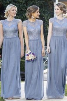 Šperk Elegantní Bez rukávů Zip nahoru Rouška A-Čára Družička Šaty