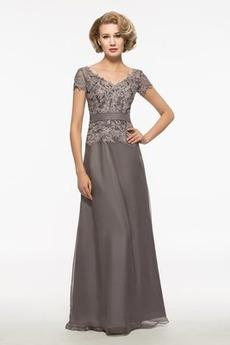 Krátký rukáv Střední Nášivky Klasický A-Čára Obřad Matky šaty