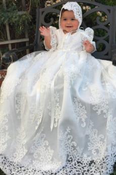 Krajka Víčko Šperk Drobounký Tyl Princezna Dlouhý Šaty na křtiny
