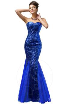 Mořská panna Hvězdné Bez rukávů Přírodní pas Tenká Večerní šaty