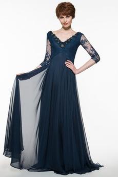 Romantický A-Čára Svatba Krajka Tři čtvrtiny rukávy Matky šaty