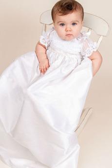 Krajka Vysoká zahrnuty Krátký rukáv Víčko Říše pasu Šaty na křtiny
