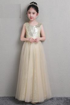 Flitry Střední Bez rukávů Šperk Oslava Flitry Květinové dívky šaty