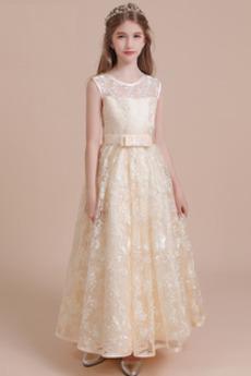 Míč Šperk Přírodní pas Elegantní Podzim Květinové dívky šaty