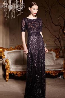 Délka podlahy Hvězdné Přírodní pas Flitry Elegantní Flitry šaty