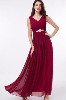 Léto Zip A-Čára Elegantní Přírodní pas V-krk Přesýpací hodiny Večerní šaty