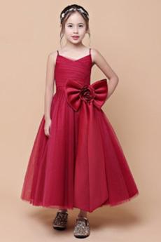 Tyl Elegantní Délka kotník Střední A-Čára Květinové dívky šaty