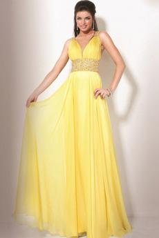 Široké popruhy Plášť S hlubokým výstřihem Skládaný živůtek Promové šaty