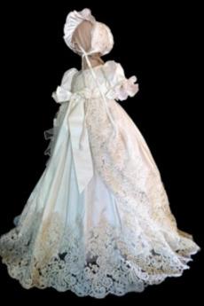 Říše pasu Formální Klenot Perla S diakritikou luk Křest šaty