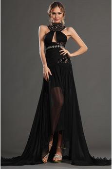 Korálkový pás Soud vlak Střední Šifón Okouzlující Promové šaty