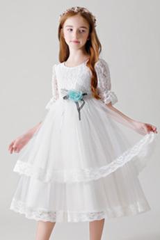 Šperk Zip nahoru Podzim Květina Délka kotník Květinové dívky šaty